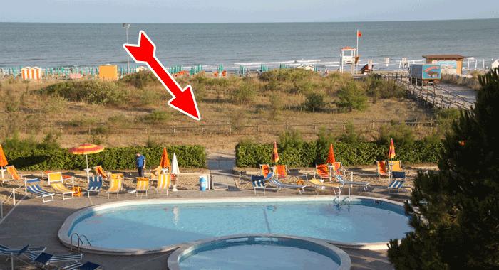 Accesso negato alla spiaggia di Jesolo Pineta